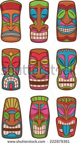 Caribbean clipart polynesian Carved Hawaiian stock ideas Tiki