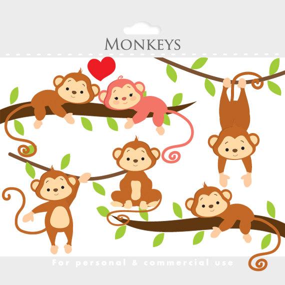 Year Of The Monkey clipart Monkey clip art cute monkeys