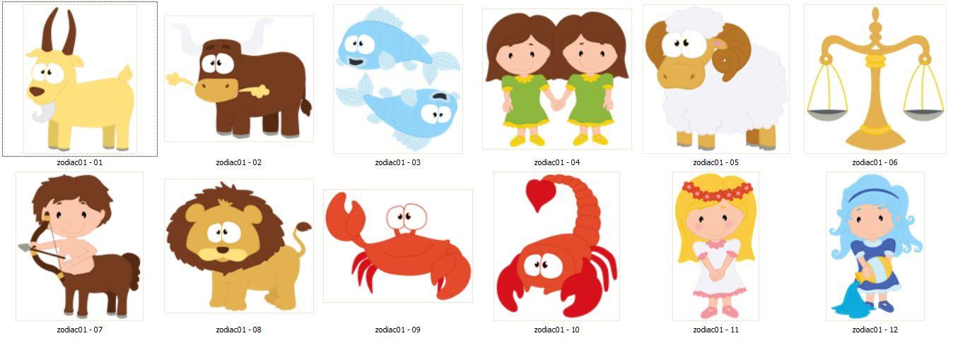 Zodiac clip Cute Pisces file