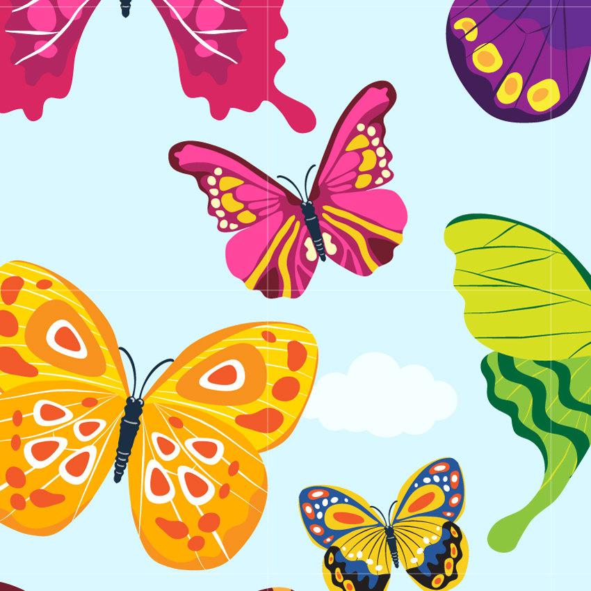 Polynesia clipart pollination / Butterfly Digital Digital is