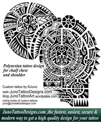 Polynesia clipart shoulder Designs designs by Polynesian tattoo