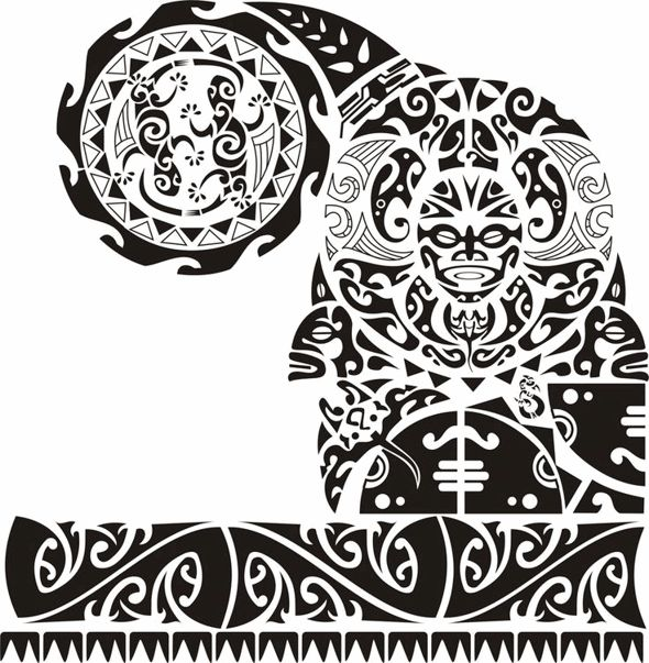 Polynesia clipart shoulder And images best chest tattoo