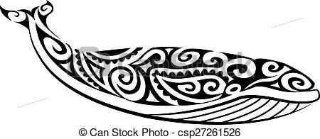 Polynesia clipart vector Polynesian whale  Polynesian Whale