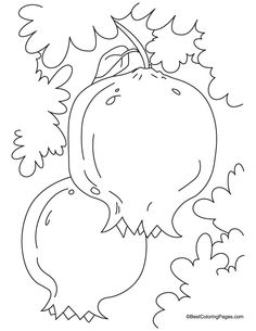 Pomegranate clipart colouring page For leaves Israel in