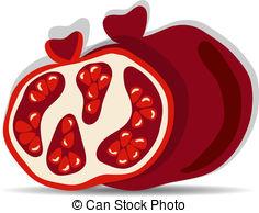 Pomegranate clipart vector Graphics 937  Pomegranates Vectorby