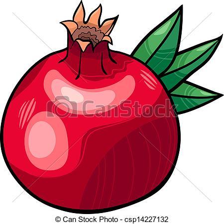 Pomegranate clipart vector Of fruit  Vector fruit
