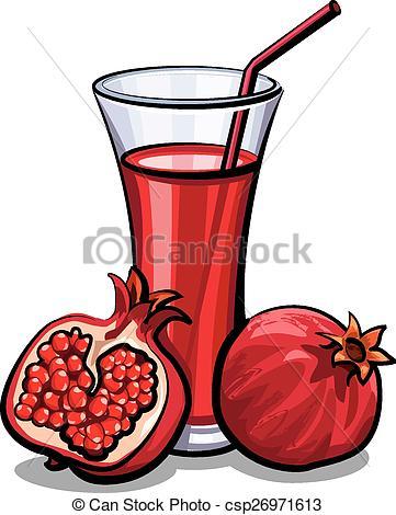 Pomegranate clipart vector Of juice  Vector juice