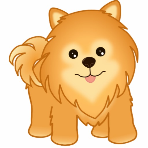 Pomeranian clipart Kawaii Pomeranian Pom Cutout Animal