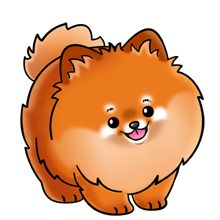Pomeranian clipart Pomeranian 369 Pinterest site on