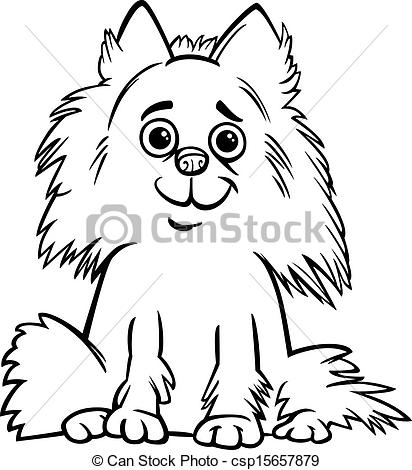 White clipart pomeranian Coloring book for cartoon
