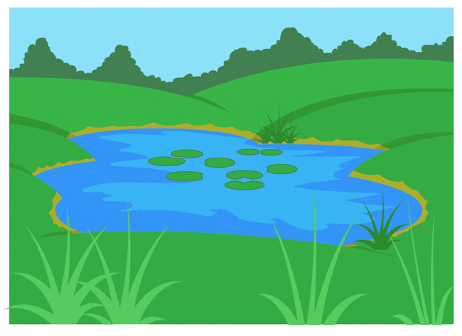 Valley clipart source water Geography Search ecosystem ponds Results