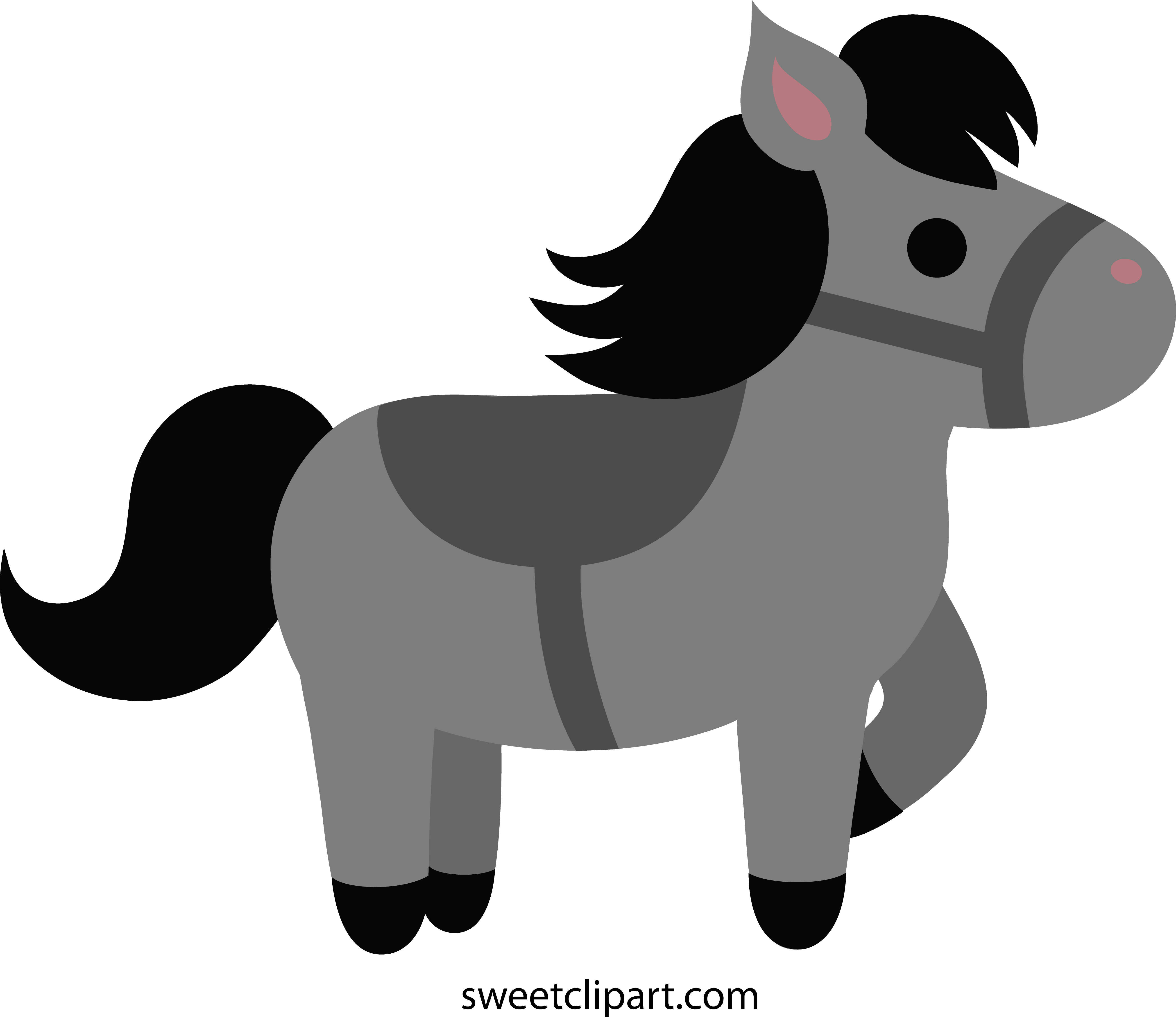 Pony clipart Free Gray Cute Gray Little
