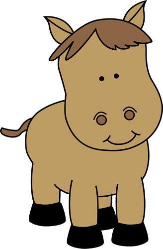 Brown clipart pony Small Art smiling Art Pony