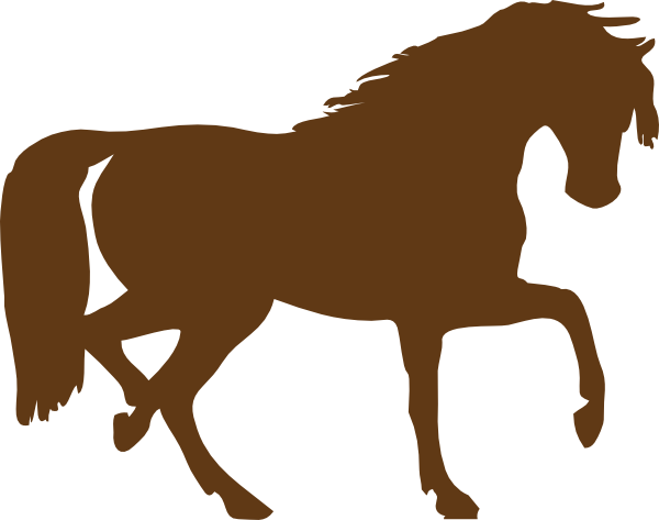Brown clipart pony Brown Sillouette Clipart Arts Brown