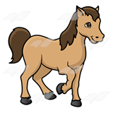 Brown clipart pony Art Abeka and Pony—with Tan