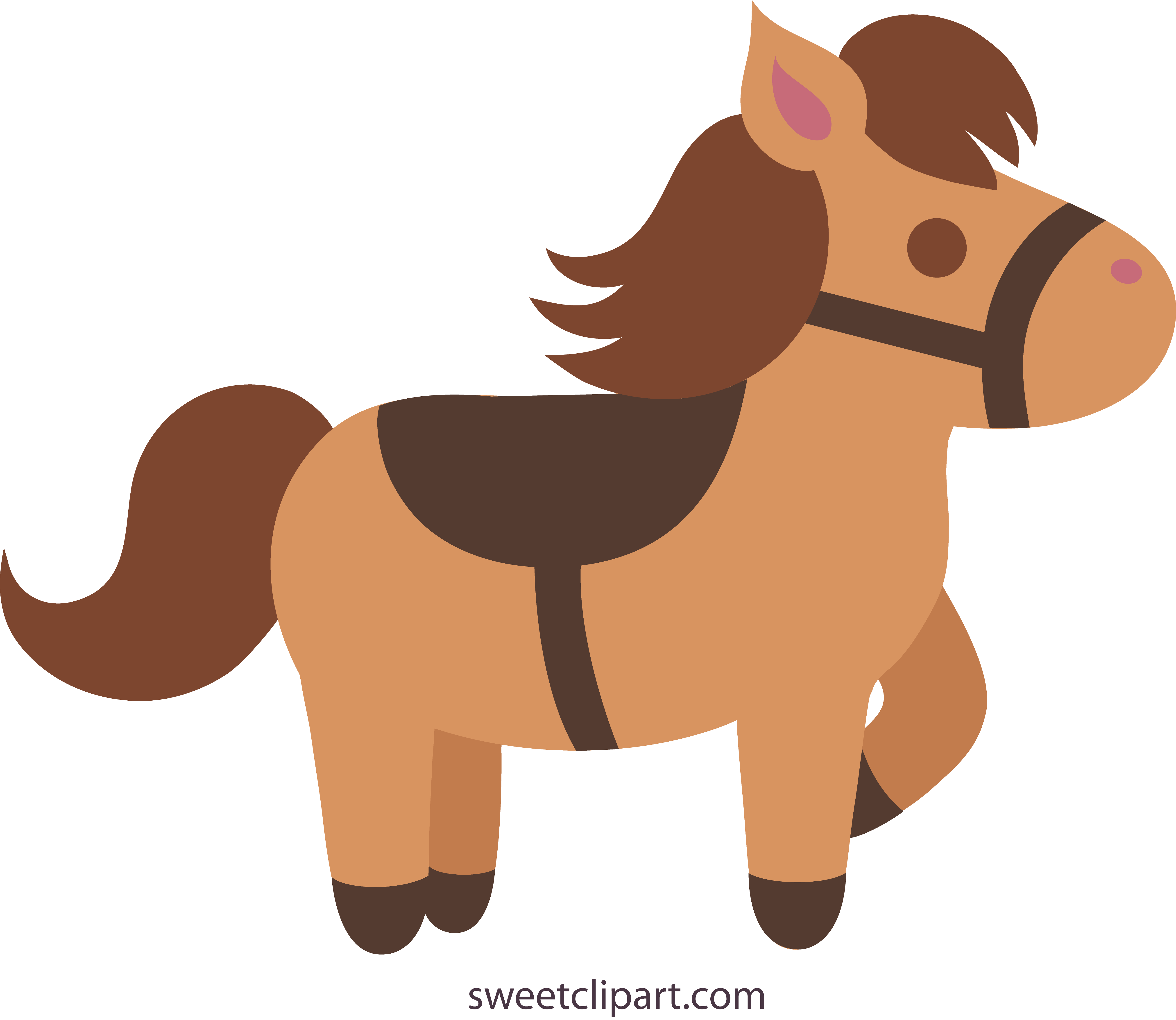 Brown clipart pony Clip Horse Clip Cute Art