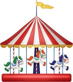 Carneval clipart merry go round IdeasGift Fair Clipart art Fair