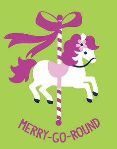 Carousel clipart merry go round Merry clipart  Carousel Round