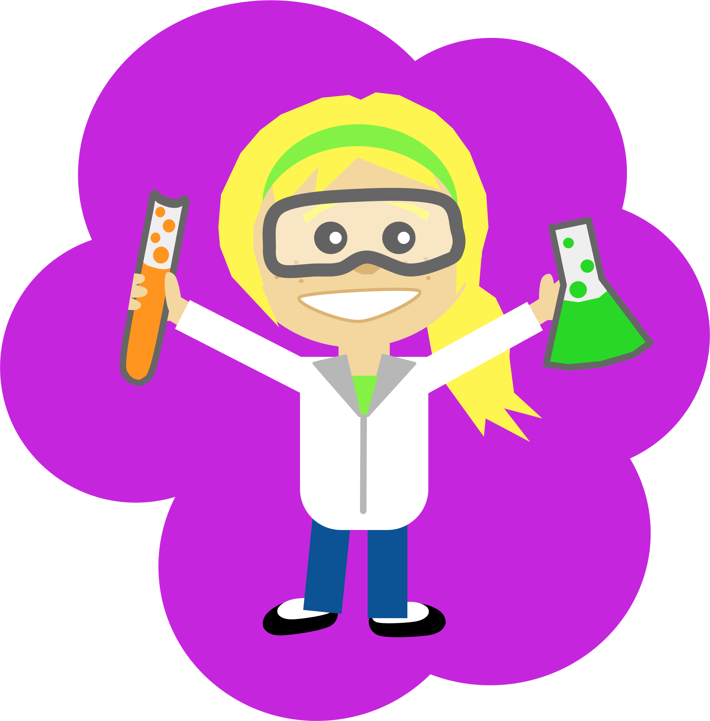 Ponytail clipart Science Girl Clipart of girl