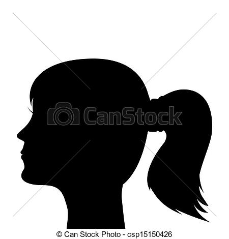Ponytail clipart A of girl with