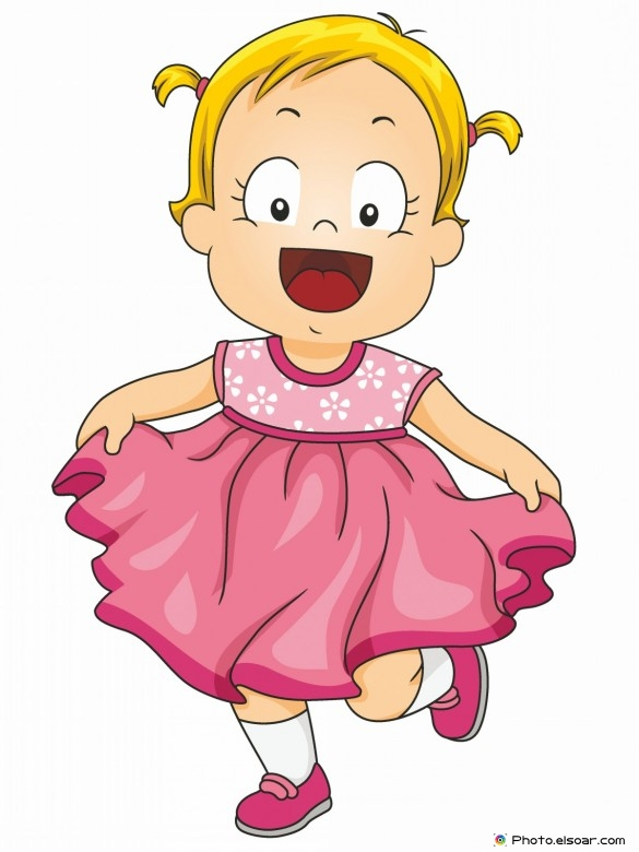 Pink Dress clipart kid cloth #5