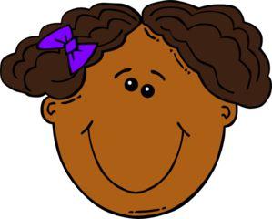 Ponytail clipart child smile Images art Girl Art Cclip