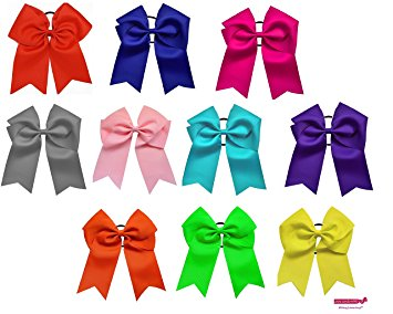 Ponytail clipart hair bow Softball  Elastics com Amazon