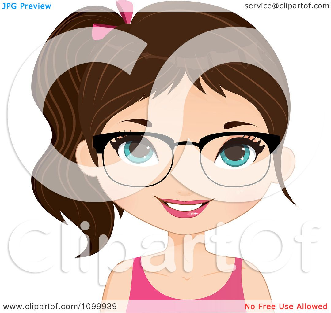 Brunette clipart smiley face Brown Clipart happy collection Girl