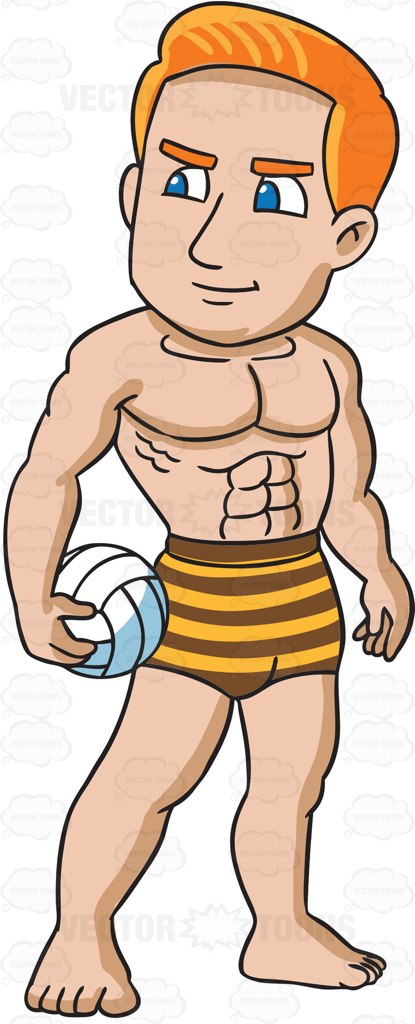 Caricature clipart muscle man #cartoon #vectortoons #vector a with
