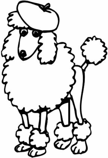 Drawn poodle clipart Poodle Drawing Magical Outline Pages