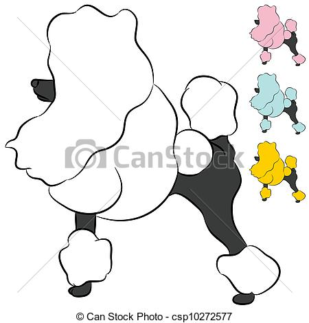Drawn poodle clipart Groomed Miniature Groomed of image
