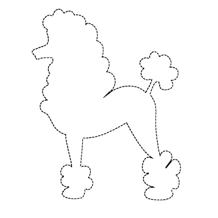 Drawn poodle pink Poodle colouring outline Dog Poodle