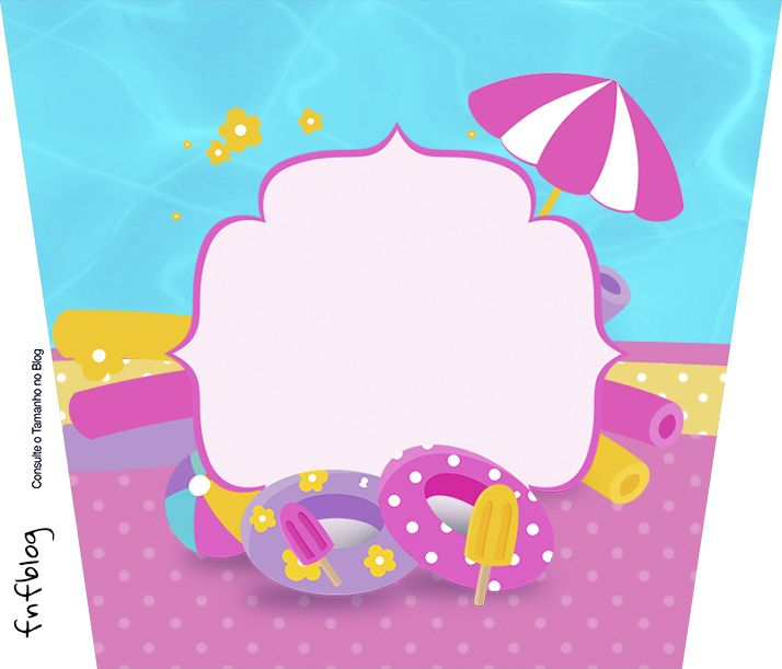 Background clipart pool party 138 Party Pool Pinterest Pipoca