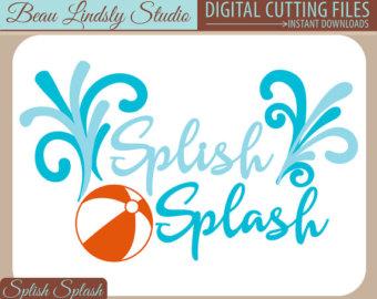 Water Blister clipart splish splash Etsy Splash Beach Splash Splish
