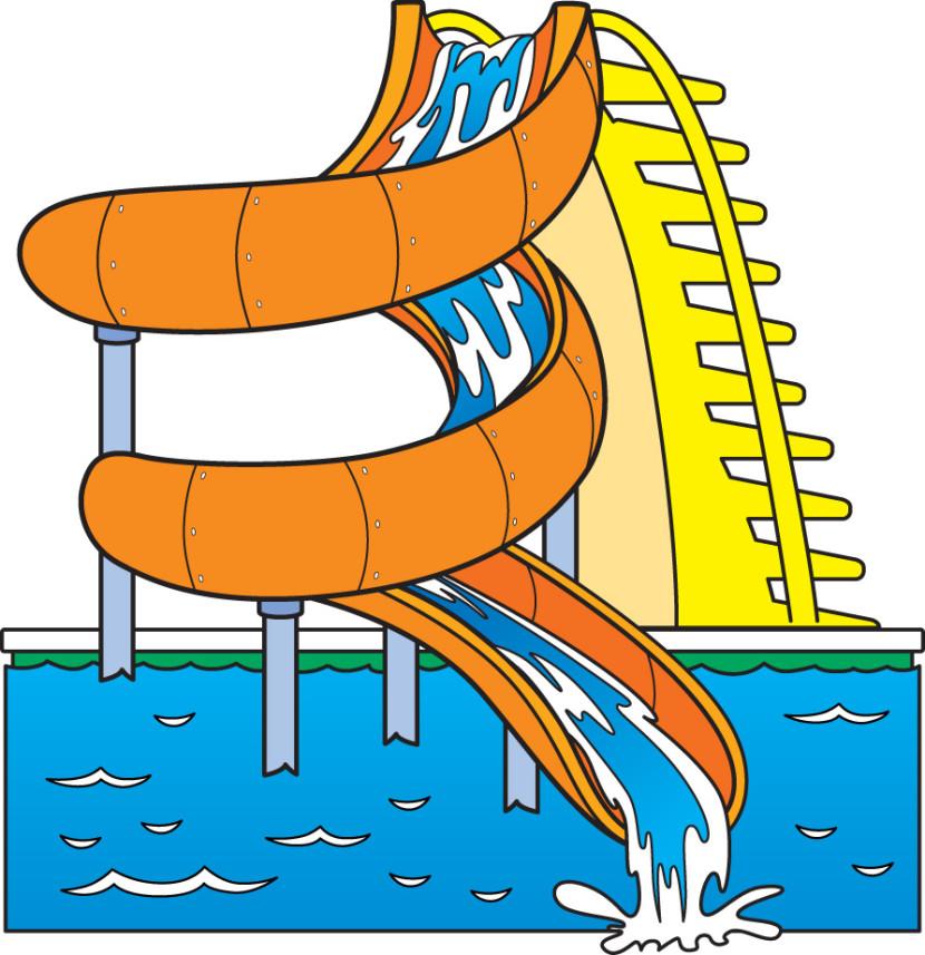 Playground clipart pool slide #5