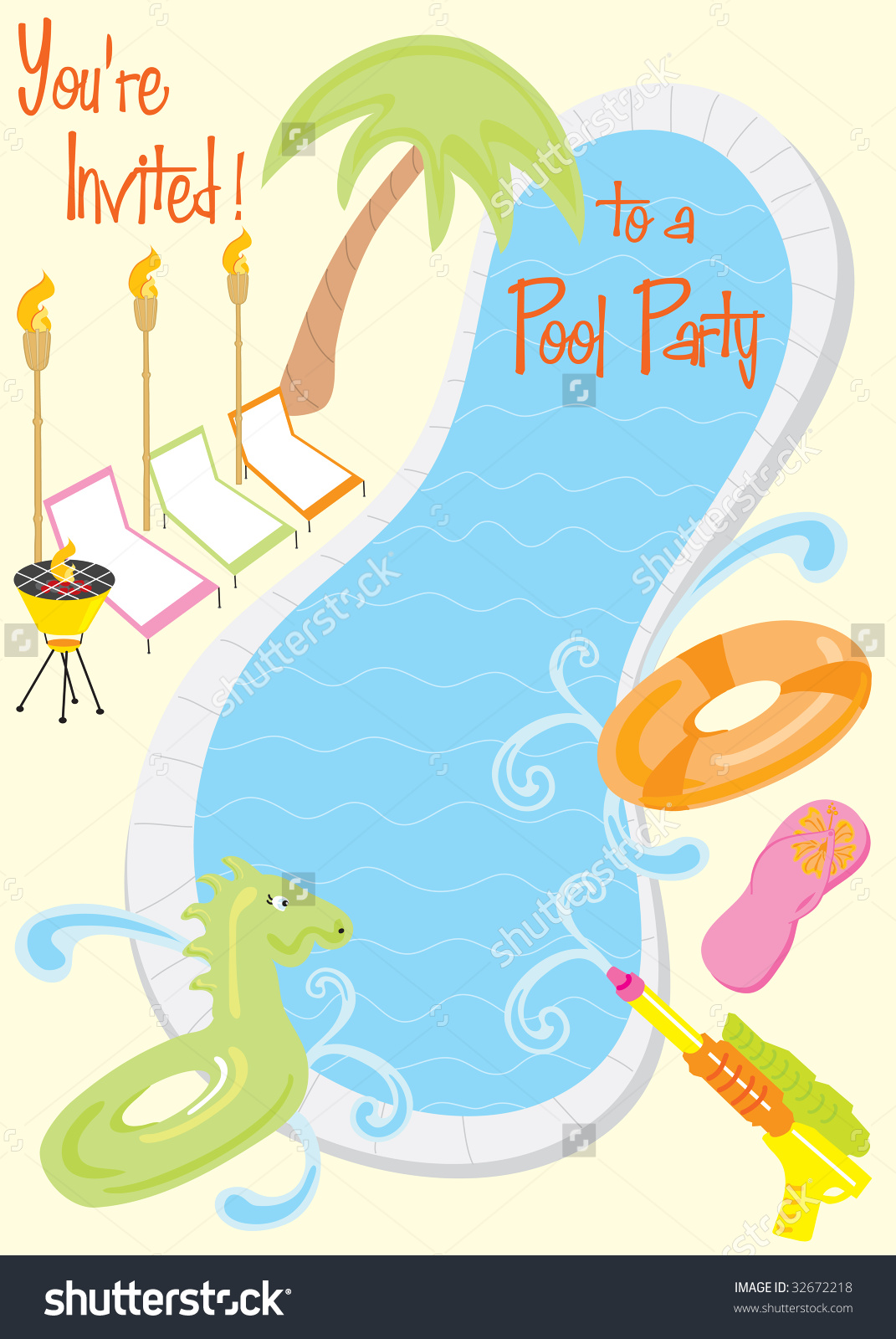 Blue Water clipart pool party Backyard pool clipart collection Party