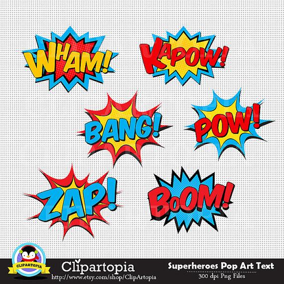 Pop Art clipart wow Super Pop by Clipart Superheroes