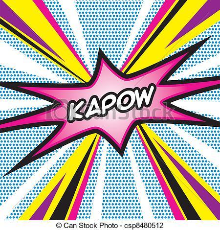 Pop Art clipart vector  Kapow Pop of ART