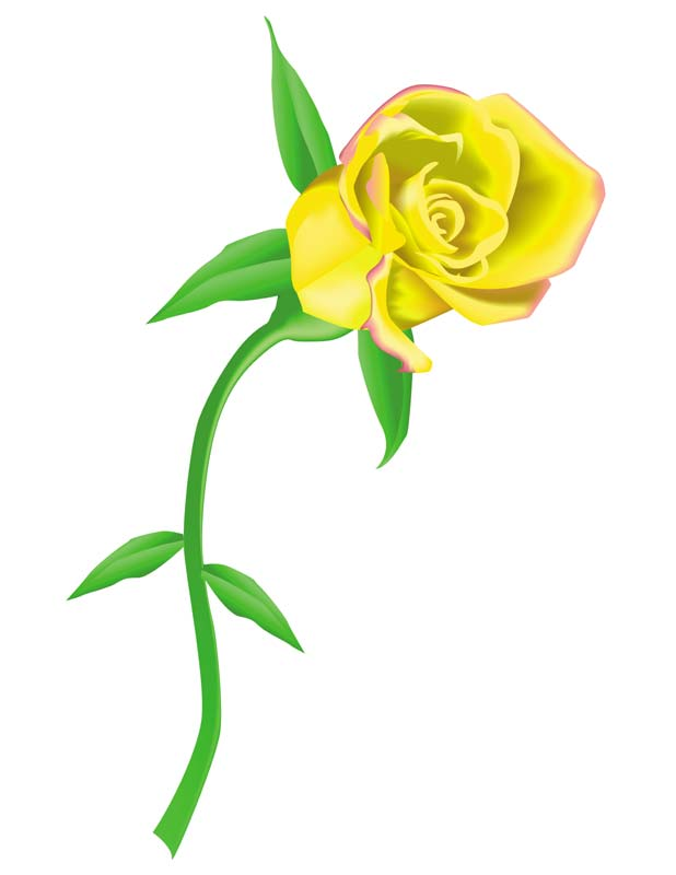 Yellow Flower clipart animated Yellow Blooming rose flower Roses