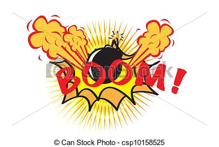 Boom clipart vector Pop art pop Illustration