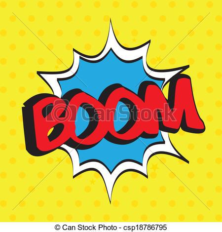 Boom clipart art Dotted art text art boom