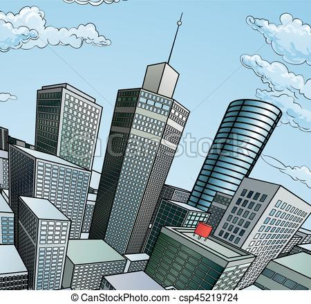 Skyscraper clipart building background City Vector Illustration A