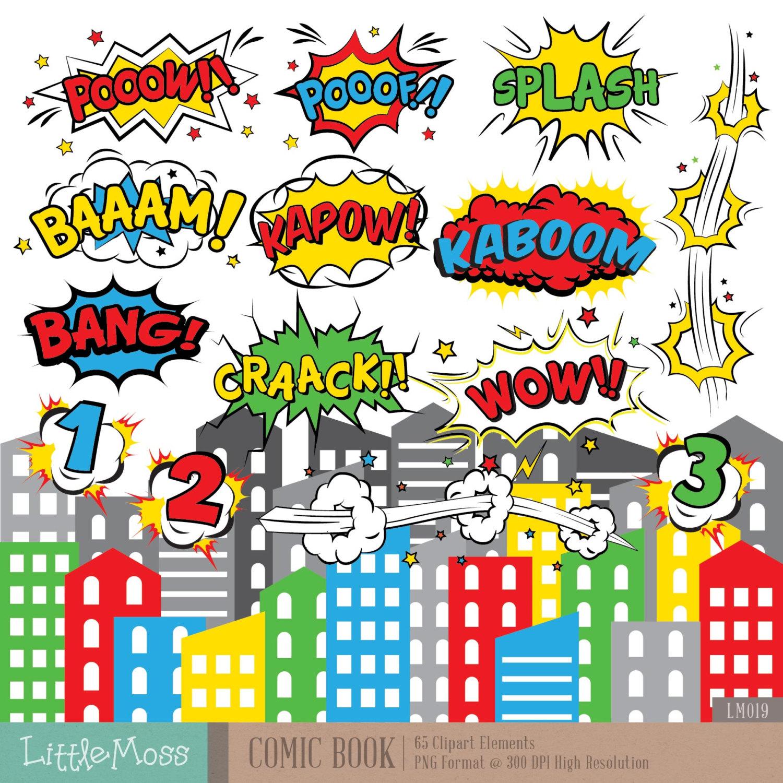 Comics clipart superhero Book digital is Comic Superhero