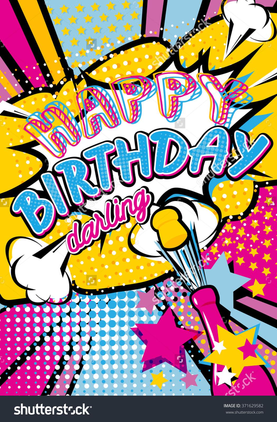 Pop Art clipart happy birthday #12