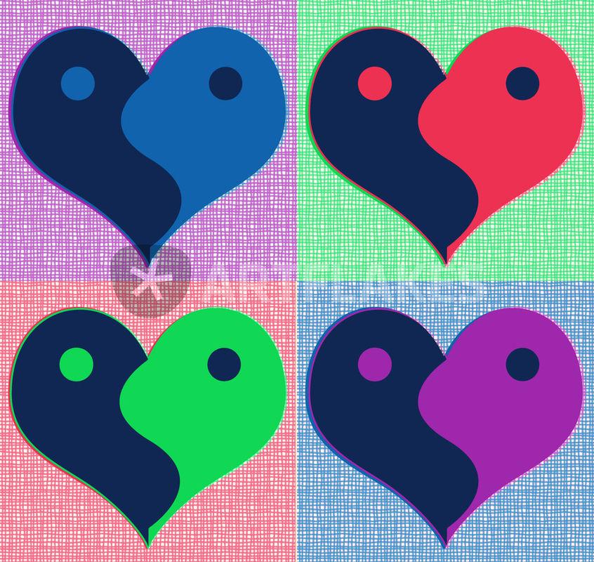 Pop Art clipart heart #2