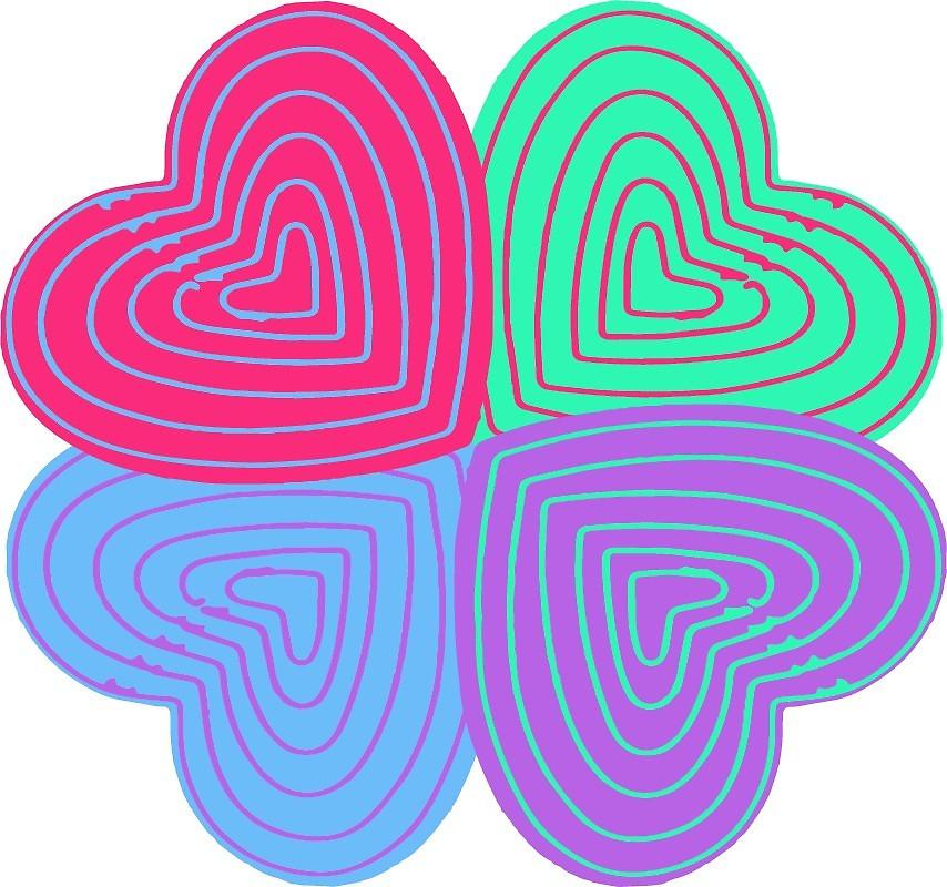 Pop Art clipart heart #1