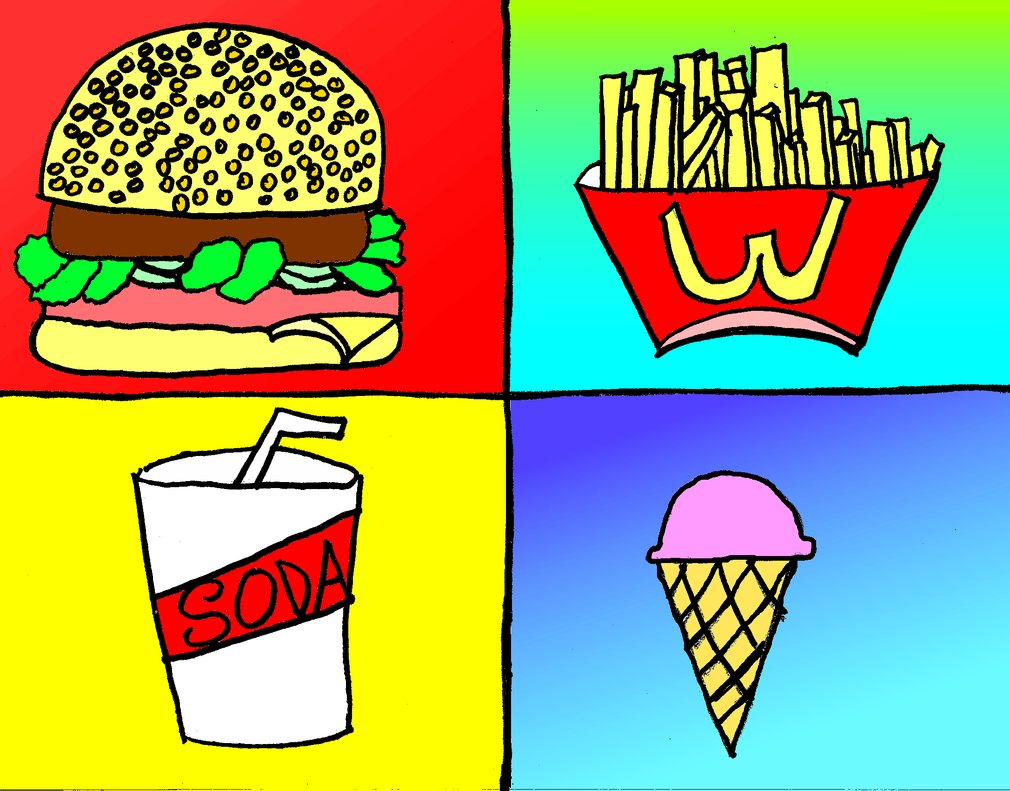 Pop Art clipart junk food Pop Art Food Food by