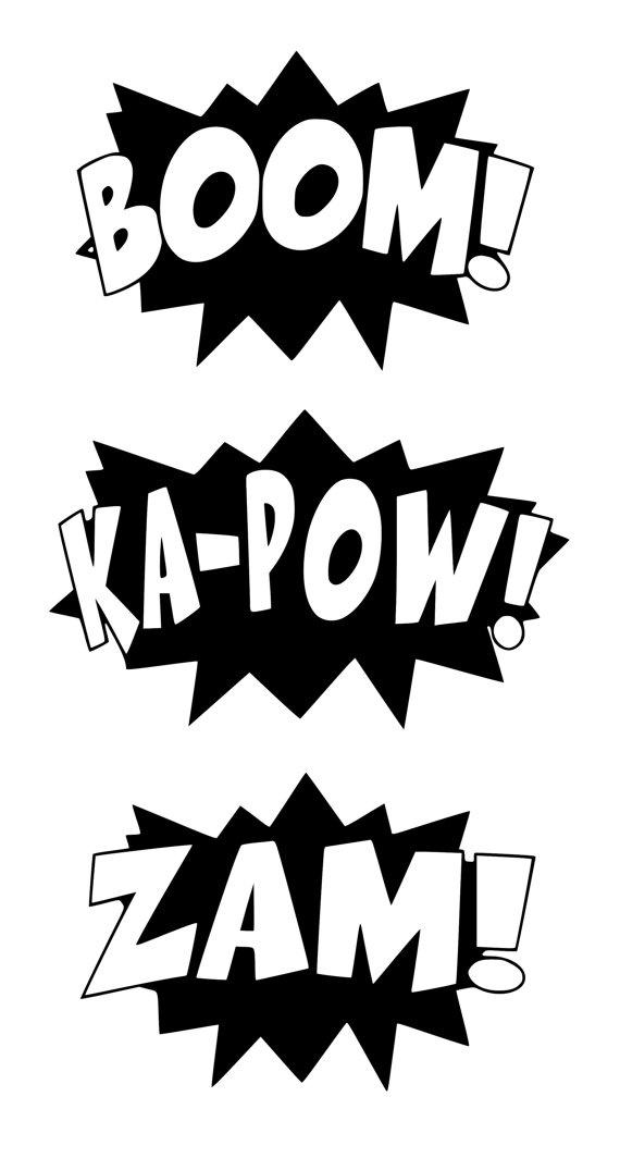 Comics clipart hero word 58 images 00 Words IkonicWalls