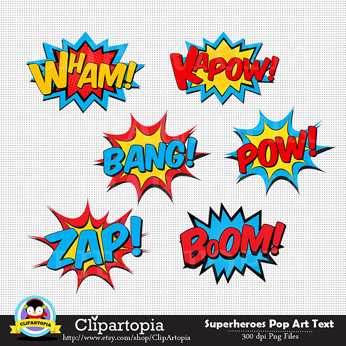 Pop Art clipart photo booth prop #6