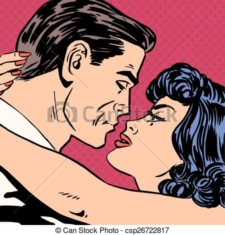 Pop Art clipart romantic Clip Halftone romance  love